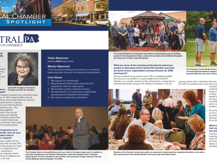 Central PA Chamber featured in PA Chamber's Catalyst magazine